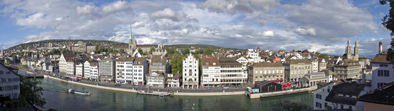 Zurich cityscape panorama Stock Photography