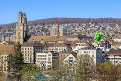 Zurich cityscape in spring Stock Photo