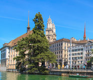 Zurich cityscape in summer Stock Photos