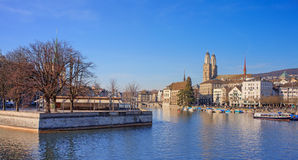 Zurich cityscape. Zurich, Switzerland - cityscape in early spring. HDR image Royalty Free Stock Image