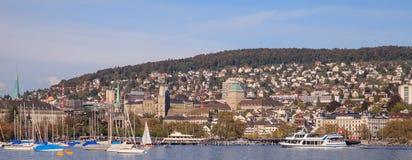 Zurich cityscape. Switzerland, Lake Zurich & Zurich city Royalty Free Stock Images