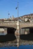 Zurich cityscape. Zurich, Switzerland - cityscape with Rudolf Brun Bridge Royalty Free Stock Images