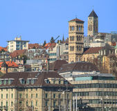 Zurich cityscape. Zurich, Switzerland cityscape - view above the Central square in early spring Royalty Free Stock Images