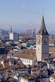 Zurich cityscape. Zurich, Switzerland cityscape - view from the Great Minster tower Stock Image