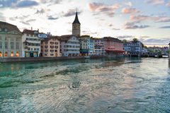 Zurich ciy in Switzerland Stock Photography
