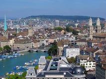 Zurich céntrica Foto de archivo libre de regalías