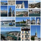 Zurich collage Arkivbild