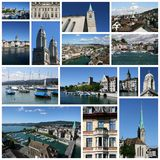 Zurich collage Stock Photography