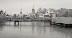 Zurich dans un jour froid photographie stock
