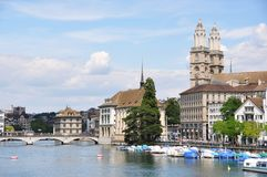Zurich downtown Stock Photography