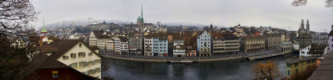 Zurich downtown Royalty Free Stock Photos