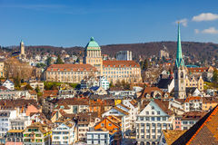 Zurich. Downtown of Zurich at sunny day Stock Photo