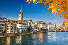 Zurich. Downtown of Zurich at sunny day Stock Photos