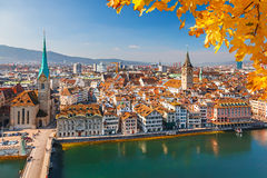 Zurich. Downtown of Zurich at sunny day Stock Photography