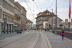 Zurich downtown, town hall, view from Limmatquai Royalty Free Stock Photo