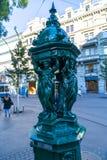 Zurich Drinking Fountain stock photo