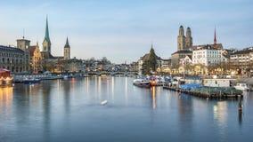 Zurich at dusk Stock Image