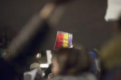 Zurich, el 5 de febrero de 2017 Proteste en solidaridad con la protesta contra el gobierno en Bucarest Foto de archivo libre de regalías