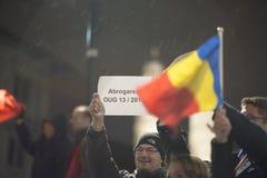Zurich, el 5 de febrero de 2017 Proteste en solidaridad con la protesta contra el gobierno en Bucarest Imagenes de archivo