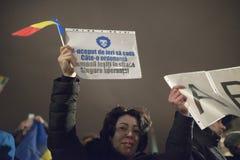 Zurich, el 5 de febrero de 2017 Proteste en solidaridad con la protesta contra el gobierno en Bucarest Fotografía de archivo libre de regalías