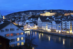 Zurich in the evening Stock Photography