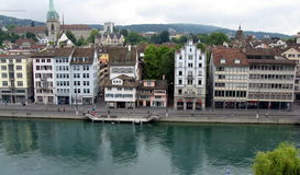 Zurich, the financial center of Europe. Royalty Free Stock Photo