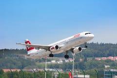 Zurich flygplats Royaltyfria Bilder