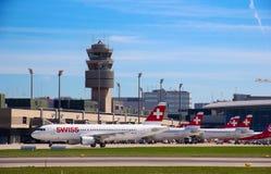 Zurich flygplats Royaltyfri Fotografi