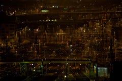 Zurich Główna stacja nocą zdjęcie royalty free