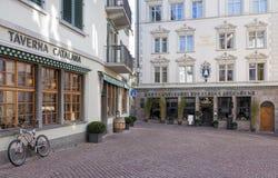 Zurich gammal stad Arkivfoton
