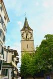 Zurich gammal stadgata Schweiz Arkivbild