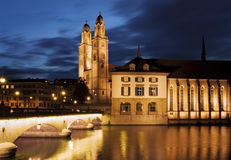 Zurich - Grossmunster Stock Images