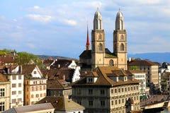 Zurich Grossmunster, Suiza fotografía de archivo