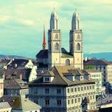 Zurich Grossmunster, Switzerland Stock Photography