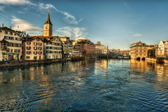 Zurich HDR Royalty Free Stock Photos