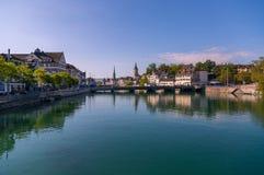 Zurich horisont Royaltyfri Bild
