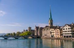 Zurich horisont Arkivfoton
