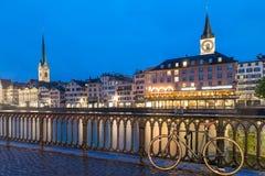 Zurich horisont, Schweiz Arkivbild
