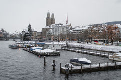 Zurich and its lake Royalty Free Stock Photos