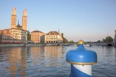 Zurich kopuły widok przy zmierzchem Obraz Stock