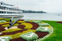 Zurich kwiatu zegar Zdjęcia Royalty Free