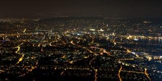 Zurich la nuit Photographie stock libre de droits