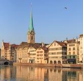 Zurich, la señora Minster Imagen de archivo libre de regalías