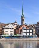 Zurich, la tour de bibliothèque centrale Photographie stock