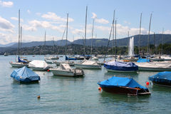 Zurich Lake marina royalty free stock images