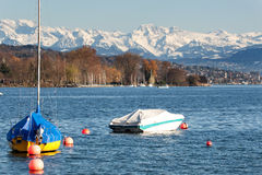 Zurich Lake With Alps Stock Photography