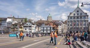 Zurich, le pont de Rudolf Brun Photos stock