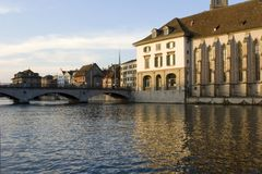 Zurich - Limmat. View of Zurich Limmat river Royalty Free Stock Image