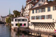 Zurich, Limmat Imagen de archivo libre de regalías