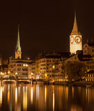 Zurich, Limmat, Autumn Evening Stock Photography